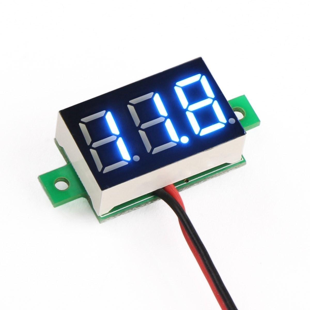 Riorand Small Digital Dc Volt Panel Electronics Voltmeter Car Led Circuit Tester Zoom