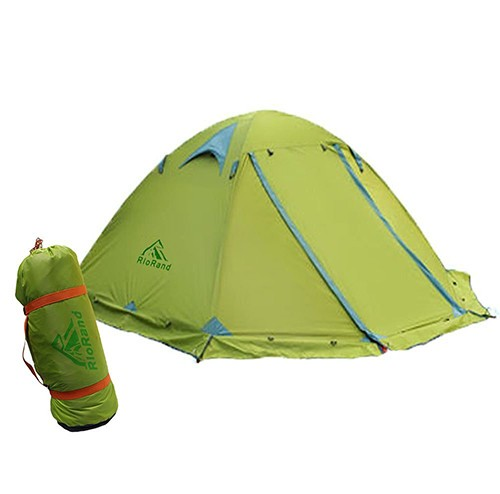... Person 4 Season Aluminum Rod Outdoor C&ing Tent Topwind 2 Plus with Snow Skirt. Zoom  sc 1 st  RioRand & RioRand Double Layer 2 Person 4 Season Aluminum Rod Outdoor ...