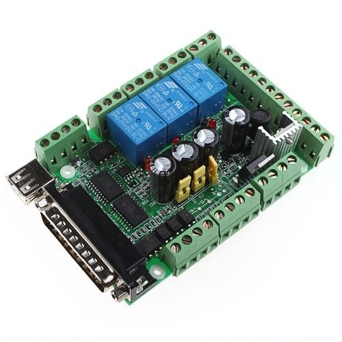 Riorand 4 Axis Usb Interface Breakout Board Adapter Cnc Mach3 For Stepper Motor Driver Active Components Electronics