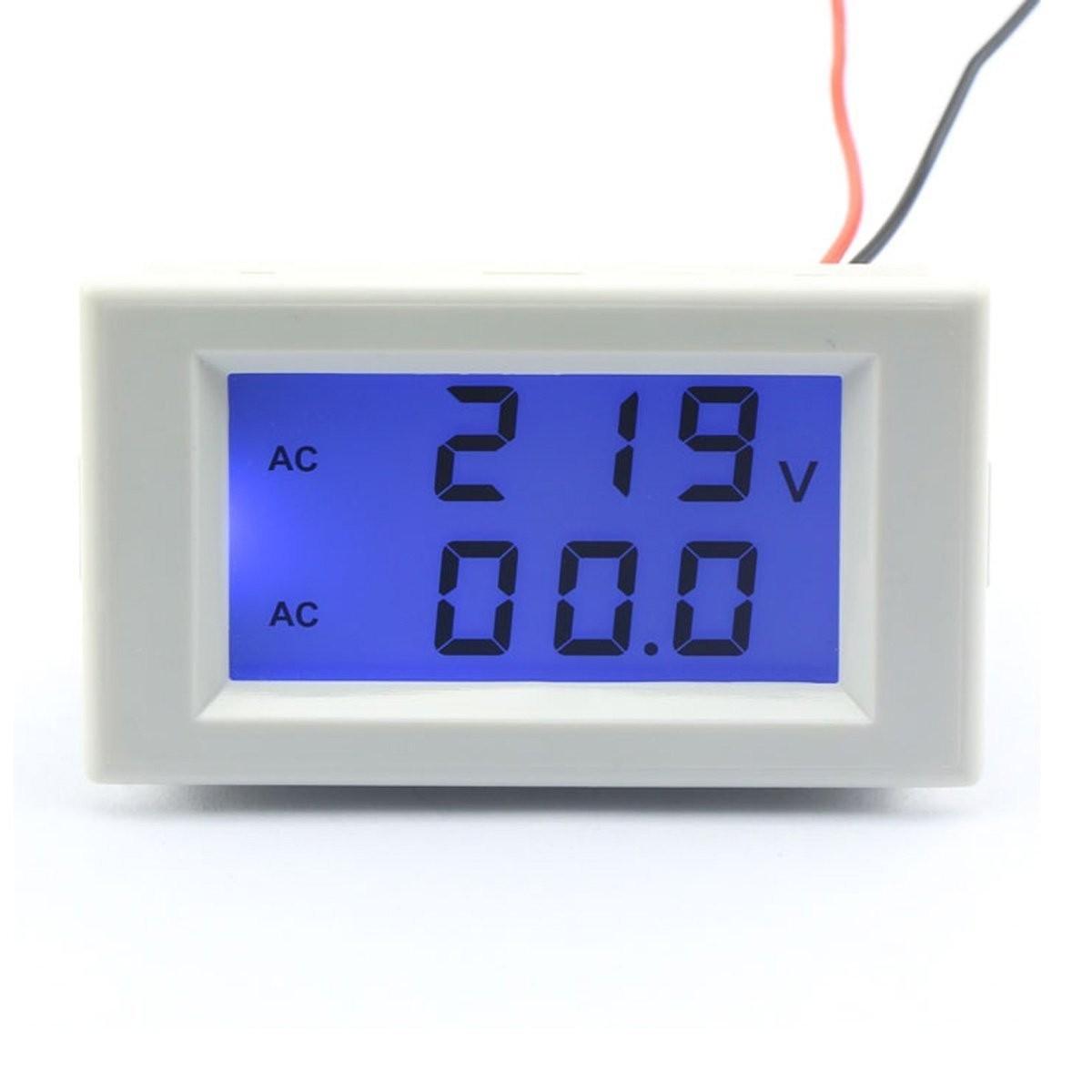 Riorand Digital Lcd Display Voltmeter Amperemeter Ac 110v 220v 100 Ammeter Panel Amp Volt Meter 100a 100v 300v Voltage Gauge Current Measurement Sense Resistor Zoom