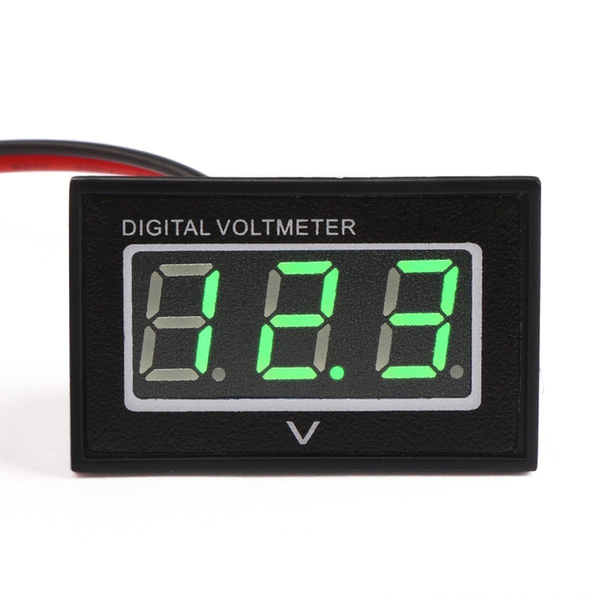 Riorand 040 Green Led Waterproof Digital Voltage Panel Mounting Wiring Voltmeter In Car Zoom