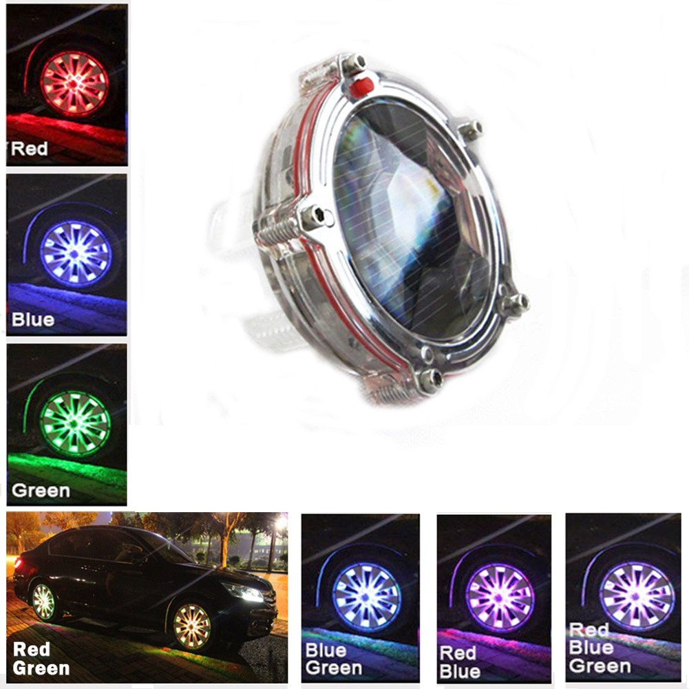 Riorand 10 Light Colorful Car Led Solar Wheel Tire Lights Drives Leds Decorative Modified Automatic Mode Hot Wheels T3