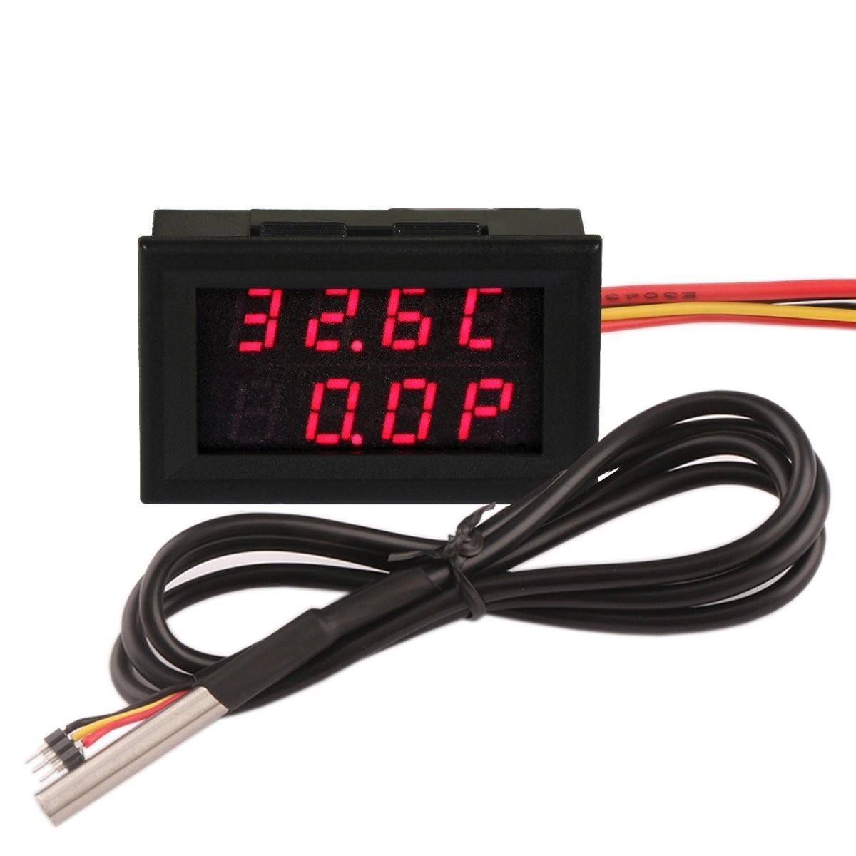 Riorand 026 Dc 0 33v 12v 3a Digital Car Volt Ampere Watt Temp Circuit Diagram Meter Wiring Zoom