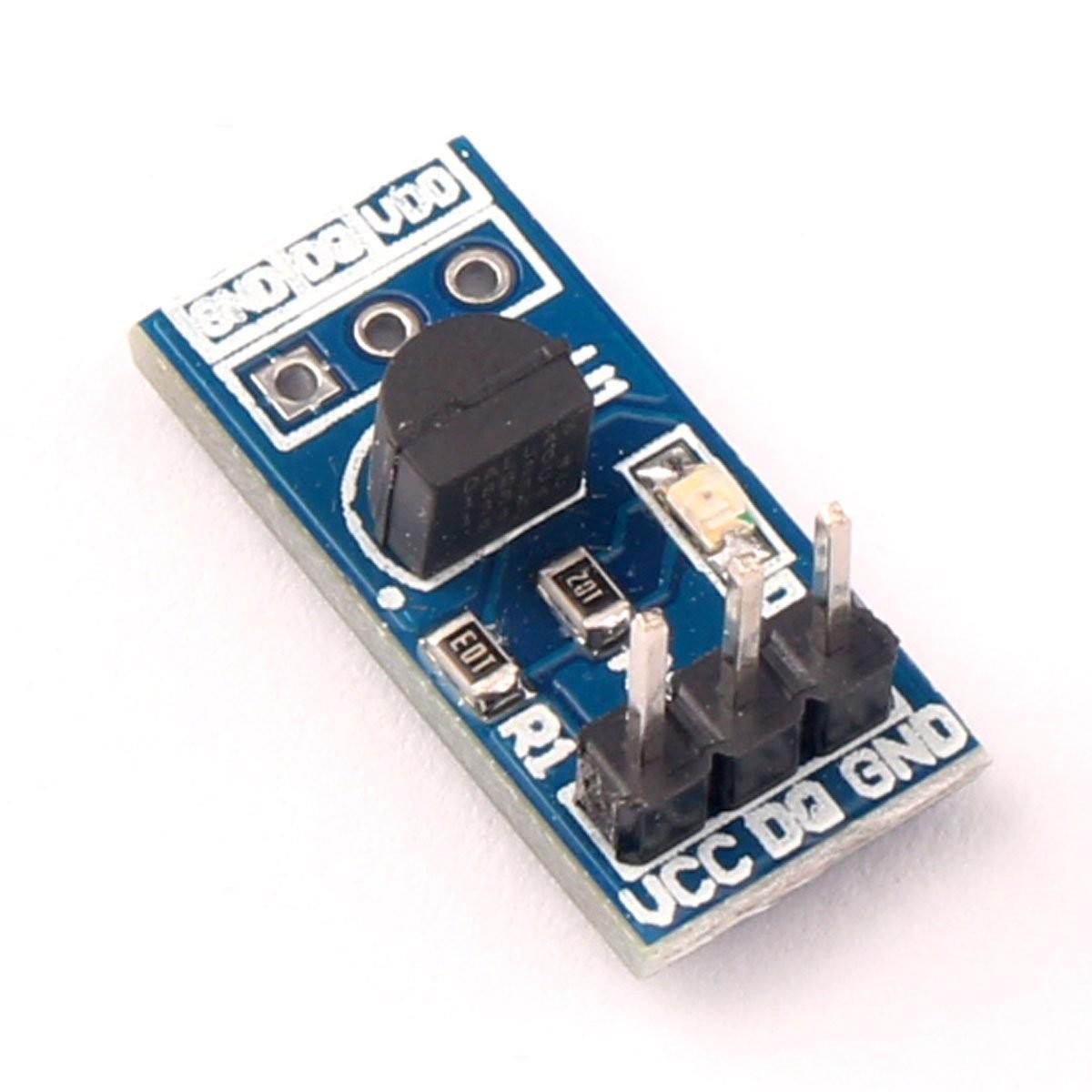 Riorand Ds18b20 Temperature Detector Sensor Module Circuit Boards Electronic Component Electronics Zoom
