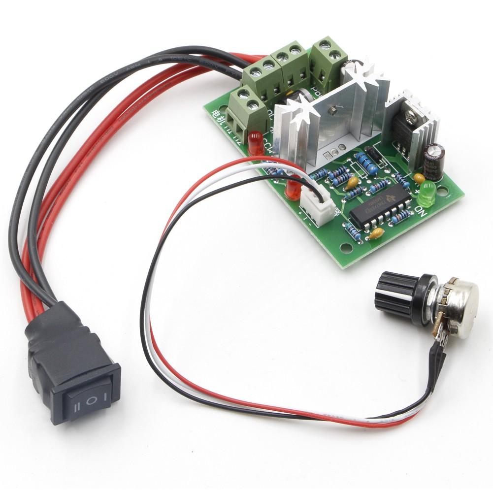 Riorand Upgraded Adjustable Dc Motor Speed Pwm Controller 10v 12v Pwmmotorcontrollerwithforwardandreversejpg Lightbox Moreview