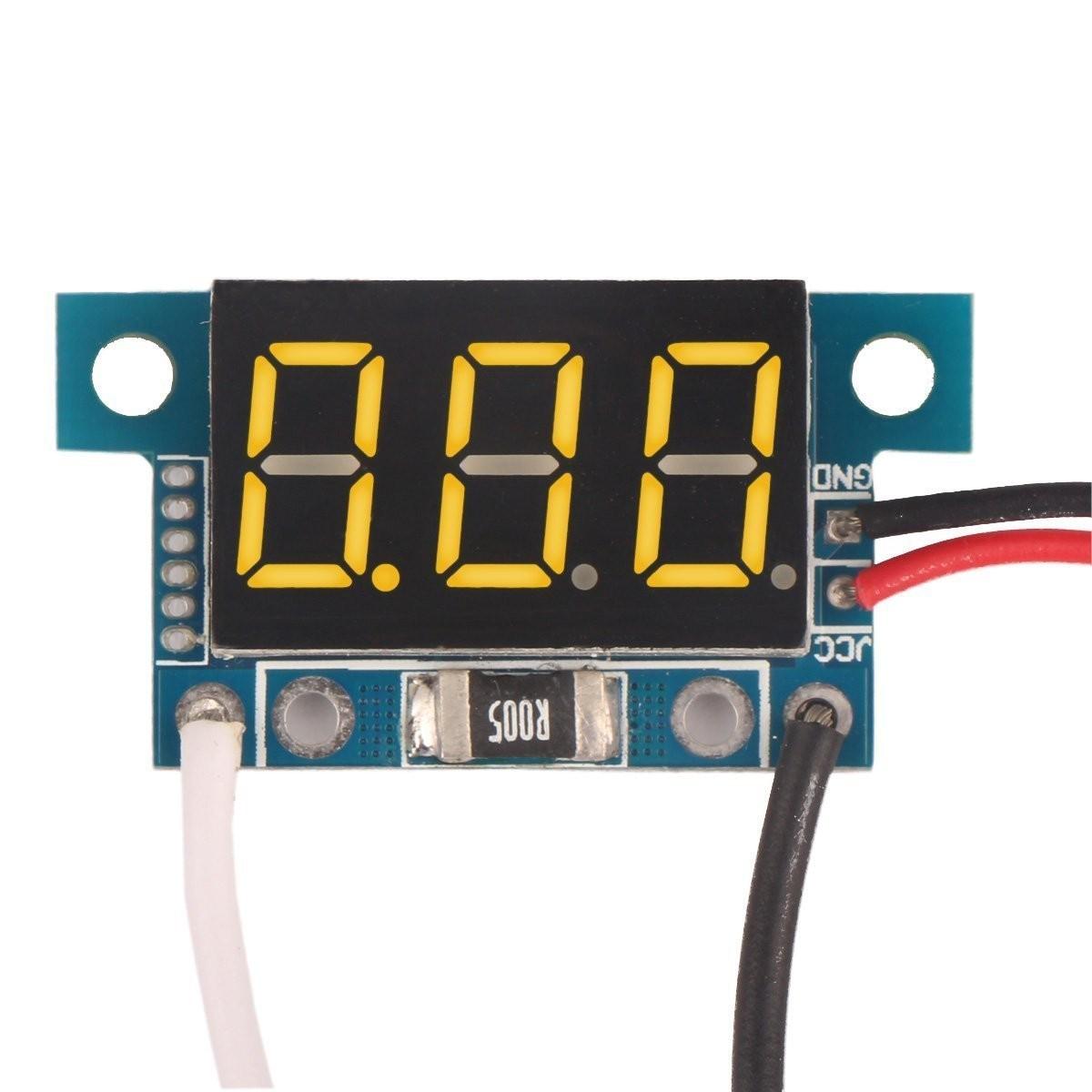 DC 0 To 5A Digital Ammeter Blue LED Display Panel Meter