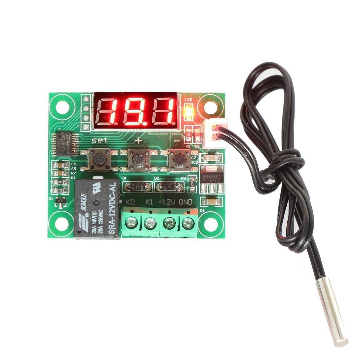 RioRand 12V DC Digital Cooling/Heating Thermostat Temp
