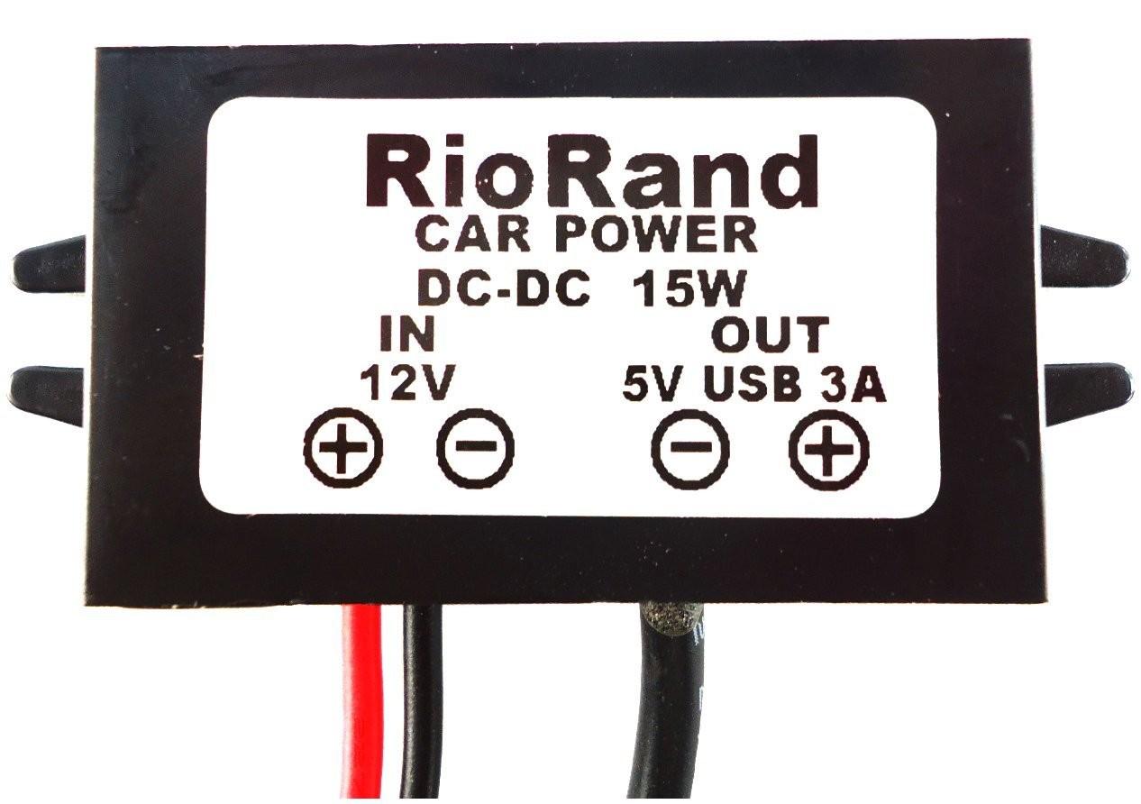Riorand dc volt converter car charger 8 22v 12v to 5v 5 pin mini usb zoom publicscrutiny Choice Image
