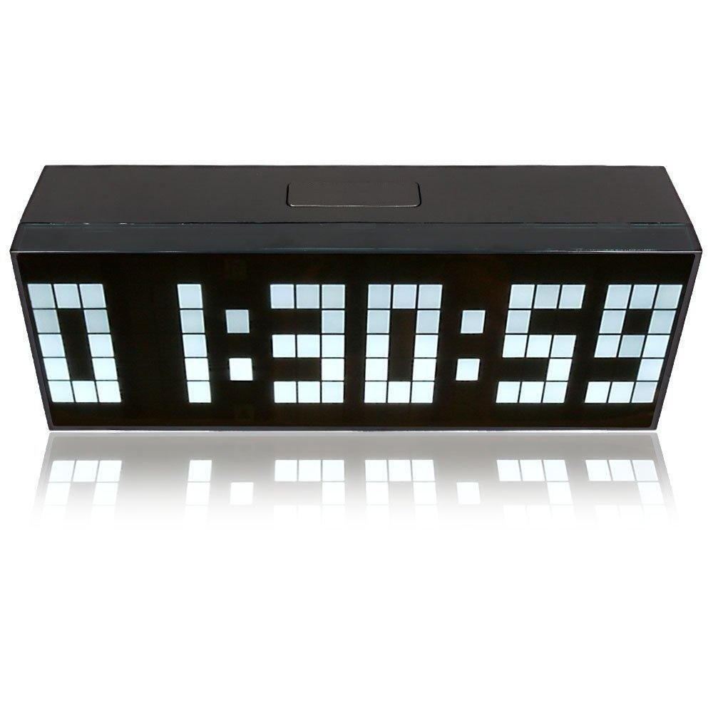 Riorand digital large big jumbo led wall desk alarm clock white zoom amipublicfo Gallery