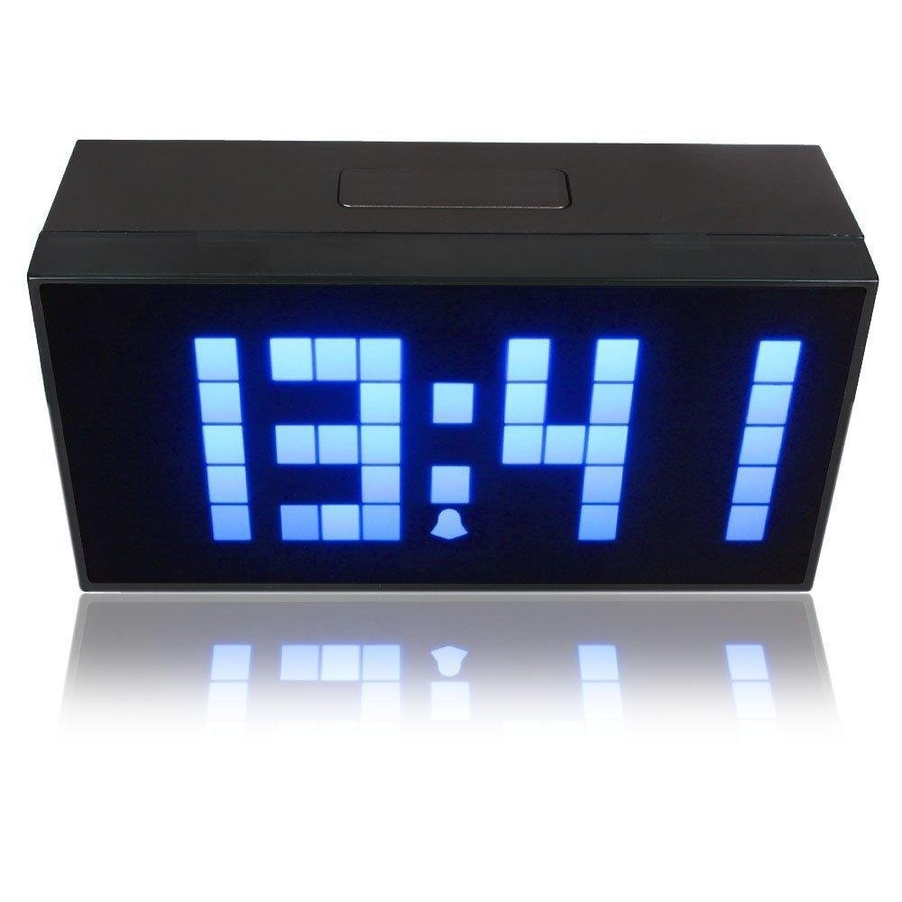 Riorand digital large display soft blue led light snooze wall desk led light snooze wall desk alarm calendar clock zoom amipublicfo Gallery