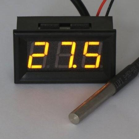 RioRand Digital Temp Gauge Panel Thermometer -55-125°c Car