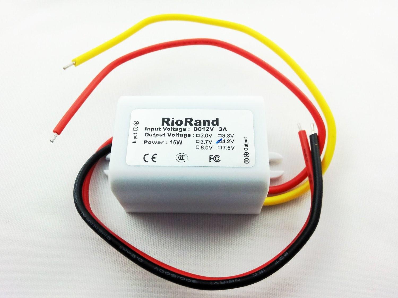 RioRand™ DC to DC Converter Inverter 12V to 4 2V 3A 15W Power Supply