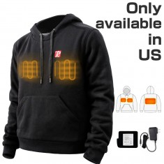 Heated Hoodie with 7.4V Battery Passed UL Certification Comfortable Stylish Warm - Medium