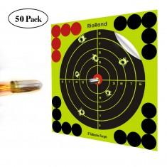 Shooting Targets 8 Inch Self Adhesive Paper Reactive Splatter Targets Stickers 50 Pack for Gun Rifle Pistol Bb Gun Airsoft Pellet Gun Air Rifle