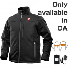 Heated Jacket for Men with 5 Heated Zone and 7.4V Battery Passed UL Certification Comfortable Stylish Warm - Large