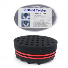 RioRand Magic Barber Sponge Twist Hair Brush for Afros, Coils, Dreadlocks Hair Styling TWO IN ONE(8mm Hole Diameter)