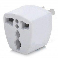 RioRand® 3-Pin AU / US / UK / EU to AU Travel Power Plug Adapter - White (4 pieces)