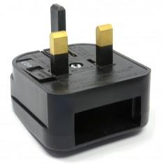 RioRand® Universal Travel AC Plug Power Adapter - Black (UK Plug) 5PCS