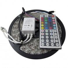 RioRand 16.4FT SMD 5050 Waterproof 300LEDs RGB Flexible LED Strip Light Lamp Kit + 44Key IR Remote Controller Color RGB