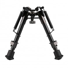 "RioRand 6"" to 9"" Hunting Rifle Bipod Adjustable Spring Return Sniper Sling Swivel Mount"
