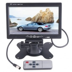 RioRand® 7-Inch TFT Color LCD Car Rear View Camera Monitor Support Screen Rotating and 2 AV Inputs, Used with Car Rearview Cameras, Car DVD, Serveillance Camera, STB, Satellite Receiver and other Video Equipments