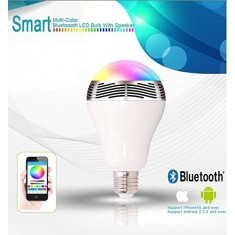 RioRand® Melody - Bluetooth LED Light Bulb With Speaker - Dimmable Multicolored Color Changing LED Lights - Smart LED Light Bulbs for Home, Office, Parties, Dinners - 110 Volts, 6 Watt (40 Watt Replacement) - E26 Medium Base - Energy Efficient Personal Wi