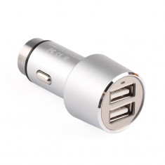RioRand® Dual USB Ports Car Charger Multifunction Aluminum Panel Compact Designed Portable Travel Charger Adapter for iPhone iPad HTC NOKIA Samsung Nexus Huawei etc