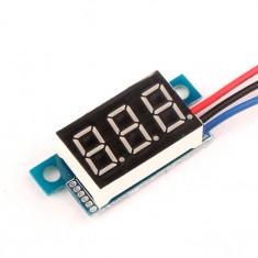 """RioRand® 0.36"""" 0-200V LED Display Digital Voltmeter Gauge Battery Car Tester Voltage Meter(Yellow)"""