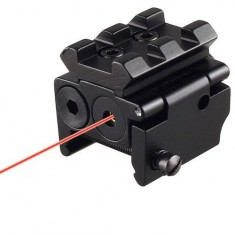 RioRand Generic Tactical Compact Pistol Low Profile Rifle Red Laser Dot Sight Scope with Rail Mount Black