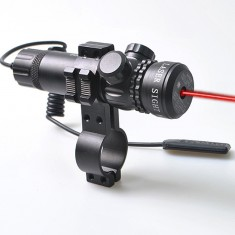 RioRand Red Dot Sight Outside Adjust Rifle Gun Scope 2 Switch Rail Mounts