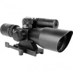 RioRand 2-in-1 2.5-10x 40scope with Quick Relese Laser Sight