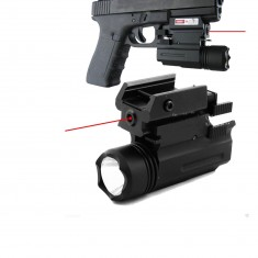 RioRand 2 in 1 Tactical Pistol Red Dot Laser Sight + 180 Lumen Cree LED Flashlight Combo , T6 6061 Aluminum , Picatinny Weaver Style Mount for Glk, S&w, Sig, Xd,beretta