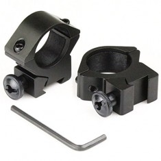 "RioRand 2pcs 25.4mm 1"" Inch Rifle Scope Ring 11mm Dovetail Mount Low Profile Hunting Tweet"