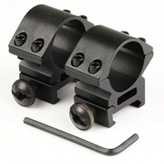 "RioRand HUNTING 2pcs 25.4mm 1"" Low Profile Rifle Scope Ring 21mm Picatinny Rail Mount Tweet"