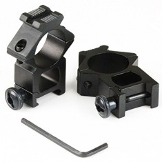 "RioRand 2 x High Profile 20mm Weaver Picatinny Rifle Scope Mounts 25.4mm 1"" inch Ring Tweet"