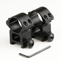 "RioRand 2pcs High Profile 25.4mm 1"" Scope Rings With 21mm Picatinny Weaver Rail Mount Tweet"