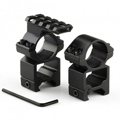"RioRand 2pcs 25.4mm x 21mm rifle scope high Ring Mounts 1"" diameter Weaver Picatinny Rail"