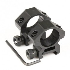 RioRand 2 x Tactical Low Profile 25.4mm Scope Rings 20mm Picatinny Weaver Rail Mount Tweet