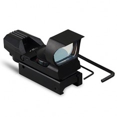 RioRand Holographic 4 Reticle 33mm Lens Red Green Dot Scope Sight 20mm Picatinny Weaver Rail Tactical Reflex RED DOT Scope