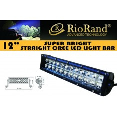 "RioRand® 72w Light bar LED Cree spot beam 12"" Work off road fog driving 4x4 SUV roof rack bar bumper(12"" 72w LED)"