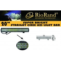 RioRand®  126W 8820LM Led Off Road Light Bar Flood Spot Combo Beam- 42pcs*3w high intensity LEDS