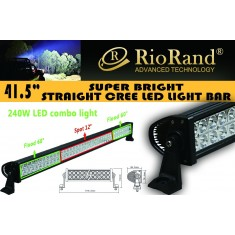 "RioRand® 41.5"" IP67 Off-Road Extra LED Light Bar Cree - 240W Flood/Spot Combo Beam"