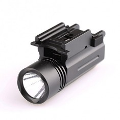 RioRand New Tactical 200 Lumens LED Flashlight For 20mm Weaver/Picatinny Rail Mount