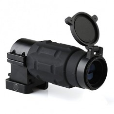 RioRand 3x Magnifier Tactical Scope w/ Flip-up Cap & 21mm Pivot Weaver Mount Hunting