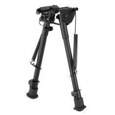 RioRand 9''-15'' Adjustable Tactical Bipod (Sling Swivel Stud Mount) Ajustable Spring Return For Shooting Airsoft Rifle Gun Sniper