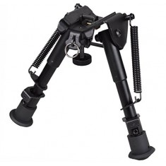RioRand 6''-9'' Adjustable Tactical Bipod (Sling Swivel Stud Mount) Ajustable Spring Return For Shooting Airsoft Rifle Gun Sniper