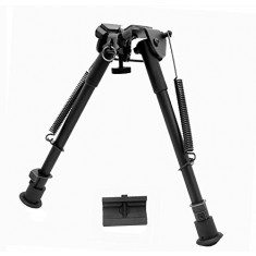RioRand 9''-15'' Retractable Folding Tactical Rifle Bipod Swivel Solid Sling and Mount Adapter