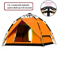 RioRand 2-3 person 3 In 1 Model With Automatic Hydraulic System Bakepaking Tents(Orange)