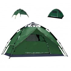 RioRand 3 In 1 Automatic Outdoor Tent 2-3 Person Model Tent for Camping Hiking(Fiberglass poles Army Green)