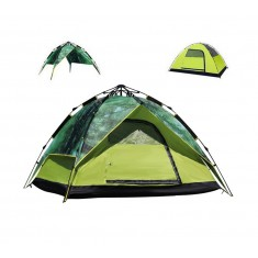 RioRand 3 In 1 Automatic Outdoor Tent 2-3 Person Model Tent for Camping Hiking(Fiberglass poles Forest)